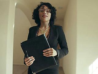 Elegant brunette Maya Morena seduced for a hardcore shag
