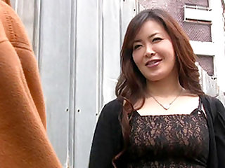 Japanese brunette woman with a hairy cunt fucked by a stud