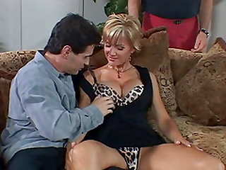 Blonde MILF is glad to be ravished by a hunk during a kinky game