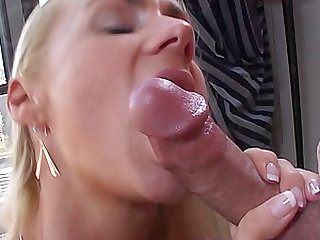 Hot blonde and her husband let you watch as they fuck the morning away.