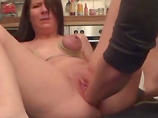 Fisting and waxing German slave Milla