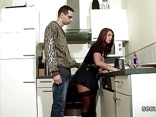 German Young Boy Seduce Big Tit Step-Mom to Lost Virgin
