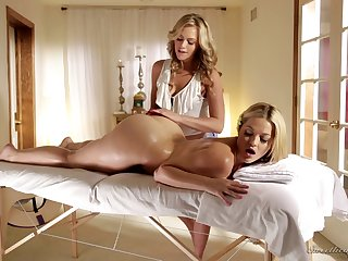 Sweetest blonde chick licking each others holes with utter passion