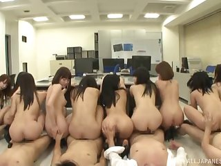 A casting call turns into a wild, crazy Japanese orgy