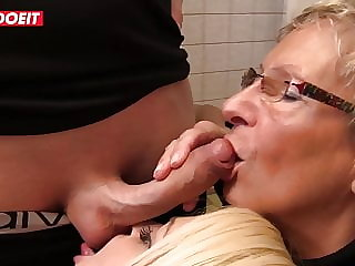 LETSDOEIT - Hot German Sluts Share Cock In The Laundry Room