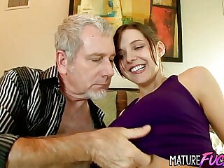 Teen Sadie Holmes Screwed by a Geezer