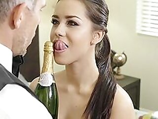 Alina Lopez drinks champagne and fucks in crazy scenes