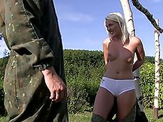 Outdoor kink on the paint ball field for Lovita Fate