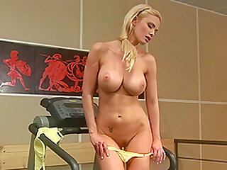 Big titted blonde, Caylian Curtis is doing only