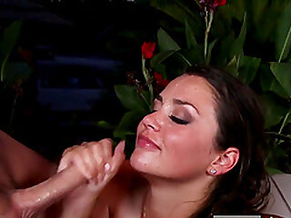 Gorgeous blowjobs with cum in their mouths