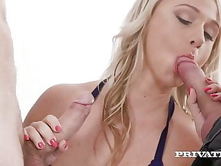 Private.com - Big Boobed Bambi Bella Double Fucked By 2Cocks