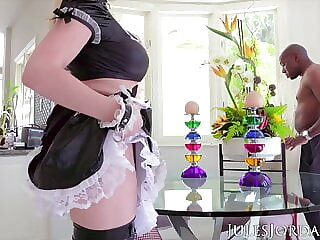 Jules Jordan - Big Boob French Maid Nikki Benz Interracial