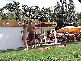 HUNT4K. Hunter meets girl on public beach and has anal sex..