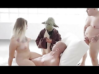 Spanish slut love gets fucked by chewbacca yoda and an ewok