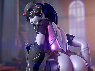 Sexy booty Widowmaker gets to ride huge dicks in this amazing compilation Enjoy friends