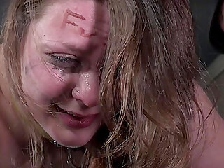 Hardcore spanking and humiliation for Nora Riley in extreme bondage