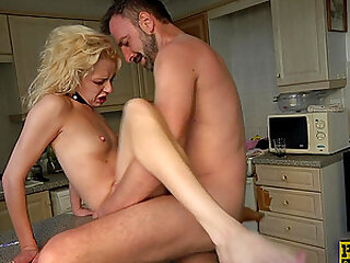 Extreme rough throat and ass fuck with cum in April Paisley's mouth