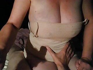 big tit wife hand job (no cum)
