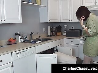 Hot Sex Crazed Wife Charlee Chase Fucks The Plumber's Pipe!