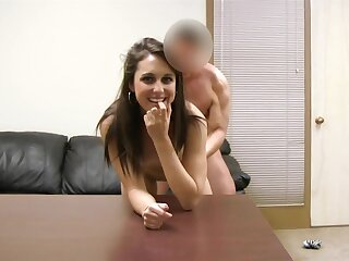 Sweet girl sucks her first dick in a porn video