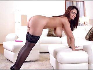 Super big natural titties on a masturbating solo girl