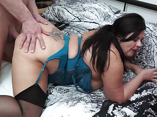 BBW milf fucked in her wet pussy by a fat cock