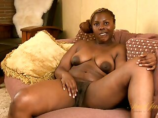Interview with a naked black milf