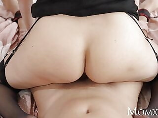 MOM Big tits UK blonde MILF Amber Jayne dominates