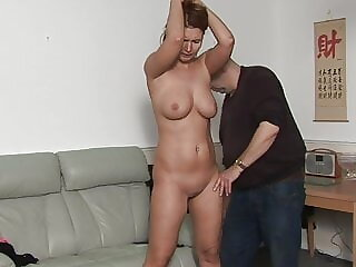 MILF Stripped and spanked for taking the car