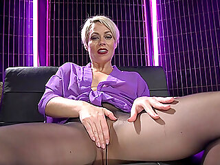 sexy Helena Locke masturbates badly in the room by her fingers