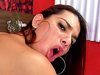 Tgirl Fernanda Cristine Gets Double Anal