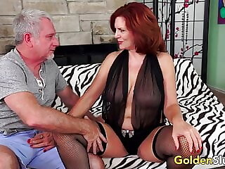 Redheaded Mature Babe Andi James Has Passionate Sex