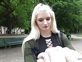 GERMAN SCOUT - SKINNY COLLEGE TEEN REAL PUBLIC PICKUP FUCK