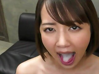 Misaki Kanna drinks 100% raw semen from 139 shots a day