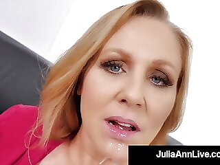 Busty Blonde Milf Julia Ann Mouth Fucks A Rock Hard Dick!
