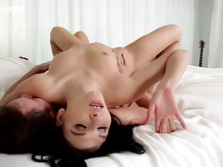 Passionate girl on top fucking with a beauty