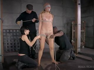Delicate and intricate bondage makes her suffer