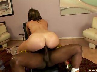 Oil soaked sex with a fat ass white girl and BBC