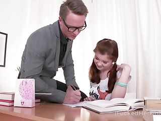 Lovely Russian student Olga allows to invade her super tight teen anus