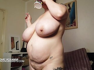 A BBW with big tits and a hairy box