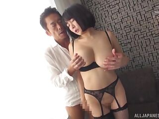 Busty Japanese wife amazes with her first sex tape