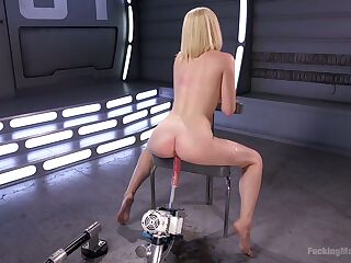 Professional adult actress chick Lily LaBeau is fucked by crazy sex machine
