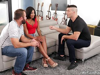 Hot Spanish guy teaches husband how to fuck bootyful black wife Lala Ivey