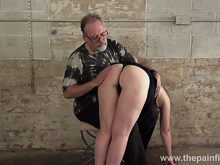 Young bitch Lolani gets her plump ass spanked in the basement