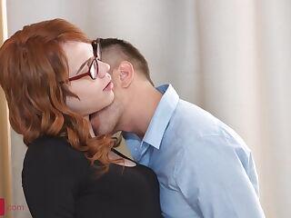Slim4K - Nasty redhead babe anal fucked.