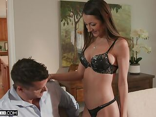 Filthy young wife Lily Adams gets intimate with husband's brother