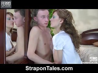 Rosa Dominates Her Man With a Strapon