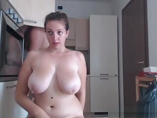 BBW get fucked on the kitchen