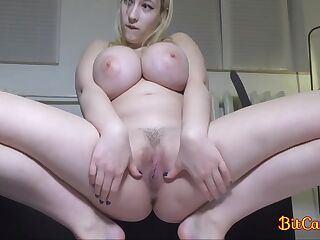 Blonde Girl With Real Big Natural Boobs