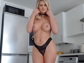 pussy and anal toy inside lick her nipple
